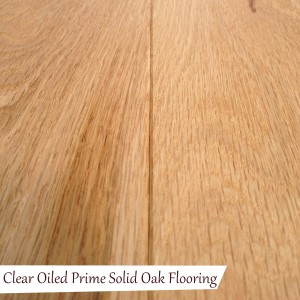 Clear Oiled Prime Solid Oak Flooring