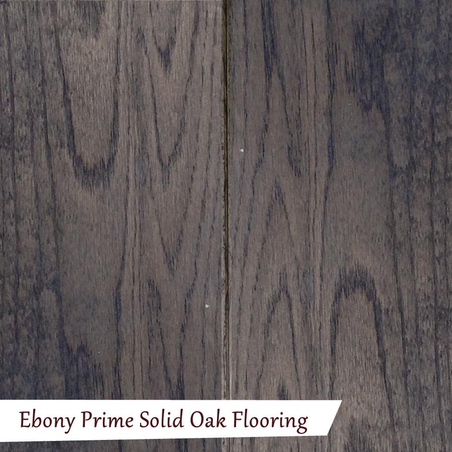 Ebony prime solid oak flooring quality oak floors for Oak flooring company