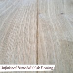 Unfinished Prime Solid Oak Flooring
