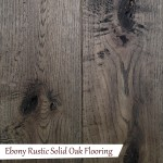 Ebony Rustic Solid Oak Flooring