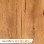 Medium Rustic Solid Oak Flooring