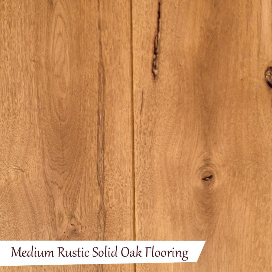 Medium rustic solid oak flooring quality oak floors for Oak flooring company