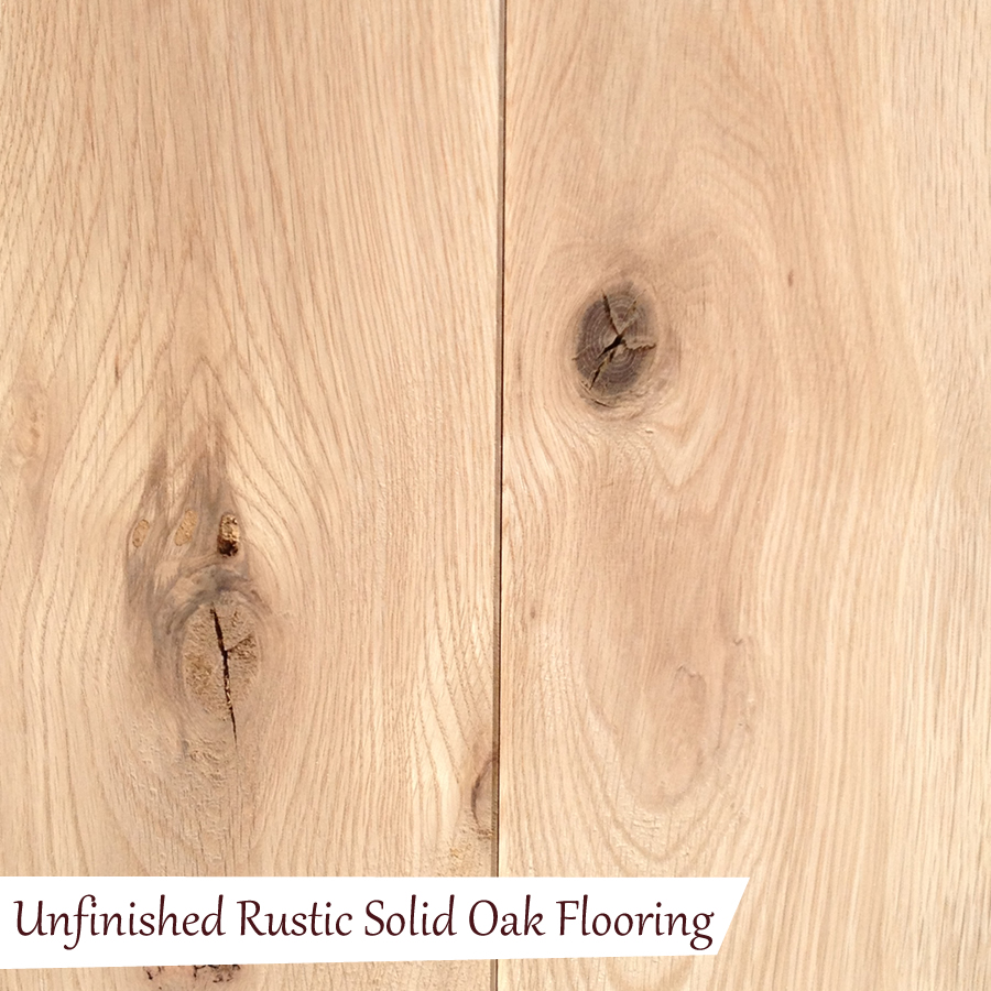 Unfinished rustic solid oak flooring quality oak floors for Unfinished oak flooring